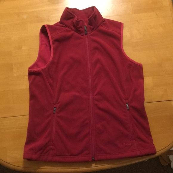 L.L. Bean Jackets & Blazers - Women's Maroon Vest